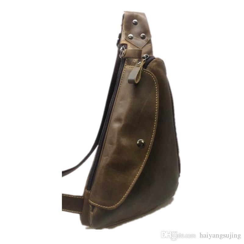 f041d30396 Extra Large Size Fashion Men Leisure Shoulder Burglarproof Genuine Leather  Mens Messenger Bag Retro Cowhide Sports Travel Chest Bags Kavu Backpack  Waist ...