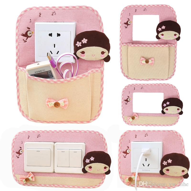 Cute little girl fabric cartoon switch wall sticker protection switch, glue to prevent the wall from getting dirty Anti-shedding mx5062