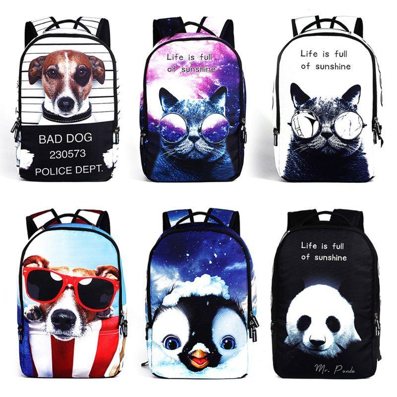 45d180bb8f2a 3D Animal Backpack Bookbag Shoulder School Bag Laptop Travel Rucksack Teens  Girl Osprey Backpacks Book Bags From Arrownet