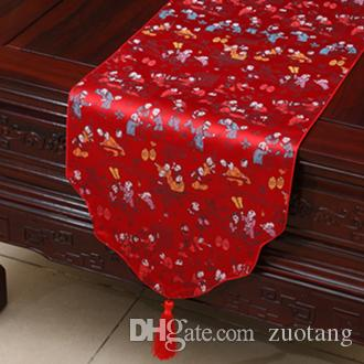 Cloud Extra Long Chinese Silk Table Runner Birthday Christmas Party  Decoration Table Cloth Rectangular Table Mat Bed Runner 300 X 33 Cm Cotton Table  Runners ...