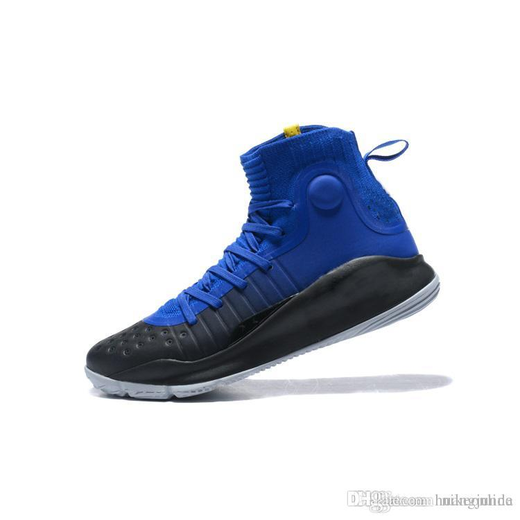 387d87e32ad 2019 New Mens Stephen Curry 4 IV High Tops Basketball Shoes Triple White  Black Gold MVP Blue Red Currys Sports Sneakers Tennis With Box For Sale  From ...