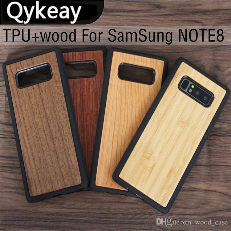 online store dc9b8 60489 OEM Wood Case For Samsung Galaxy S8 Note 8 S9 plus S7 edge Smartphone  Wooden Cover Full Protective Bamboo TPU Cases For iphone Accessories