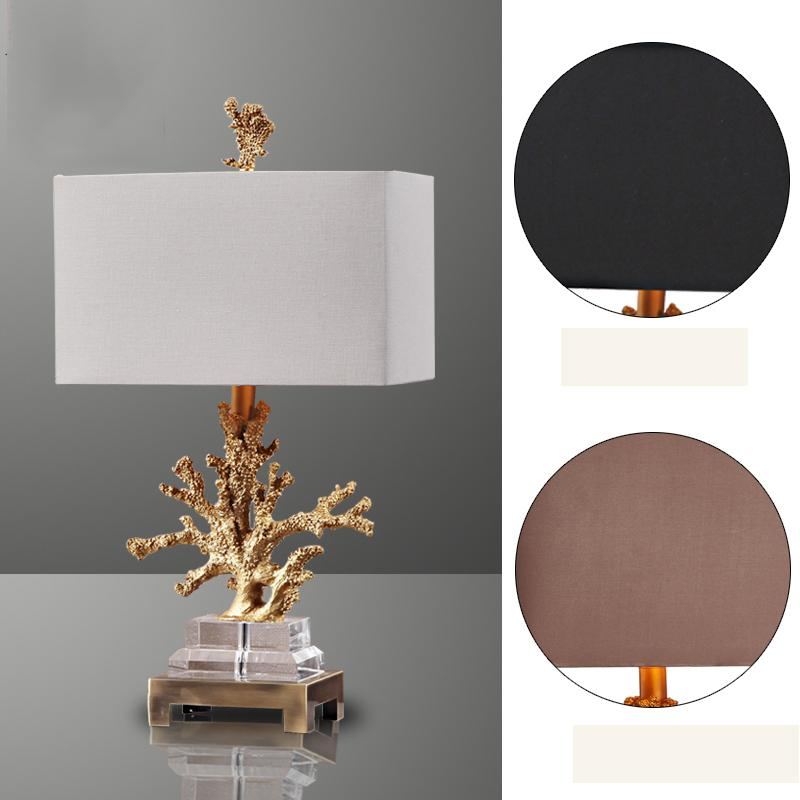 2018 luxury gold coral table lamp living room mediterranean bedroom 2018 luxury gold coral table lamp living room mediterranean bedroom bedside table lights 3 fabric lampshade optional home lighting from kirke aloadofball Images
