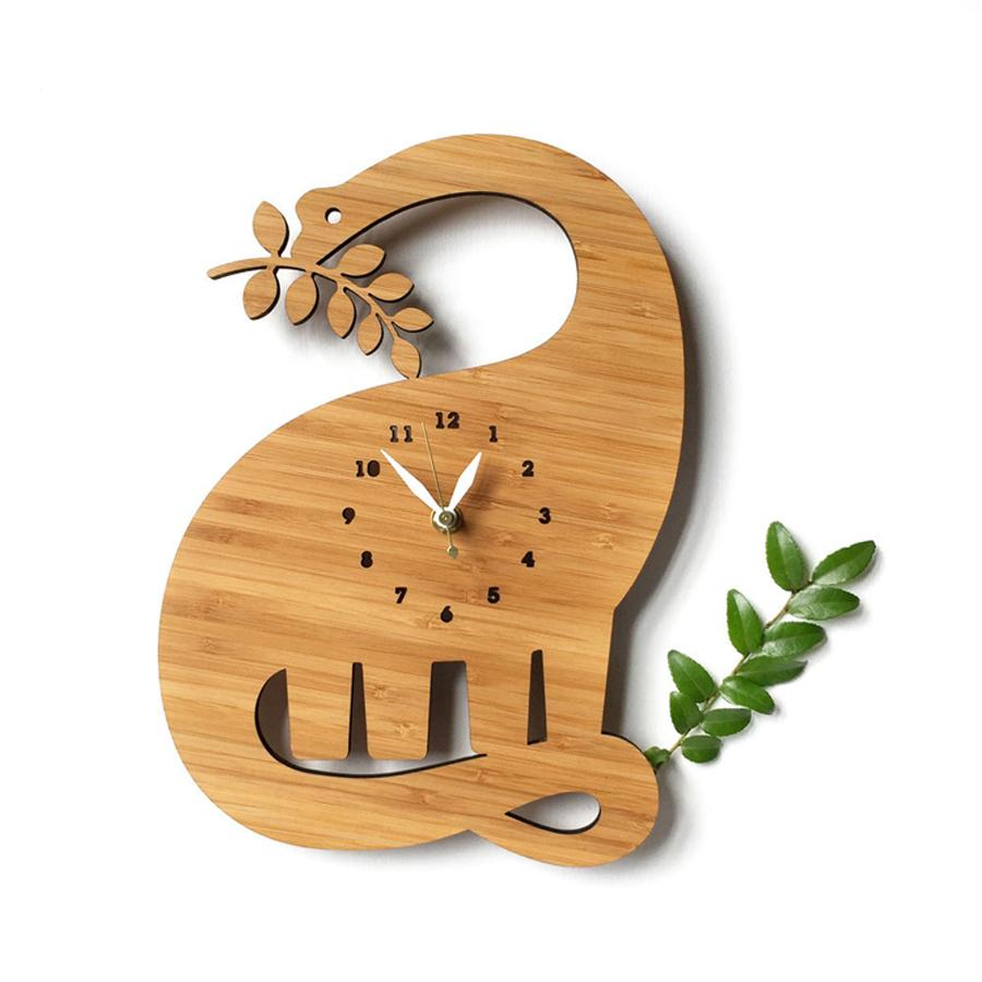 Wooden Wall Clock Modern Design Decorative Living Room Pastoral