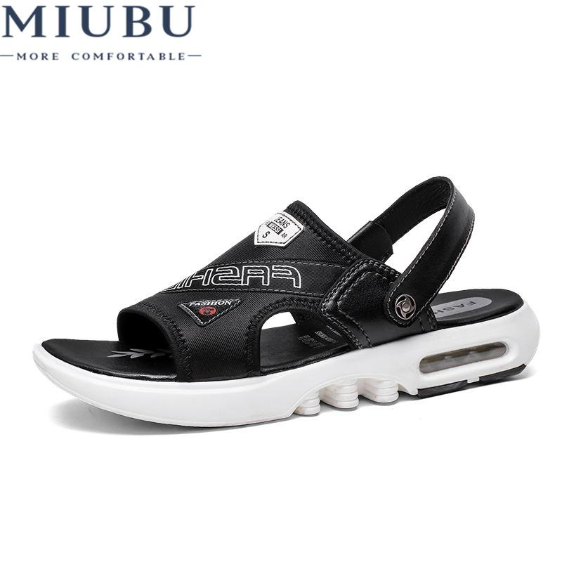 5bd8df6f653c71 2019 MIUBU Summer Mens Sandals Slippers Genuine Leather Sandals Outdoor  Casual Men Leather For Men Beach Shoes Wedding Sandals Walking Sandals From  Keroyeah ...