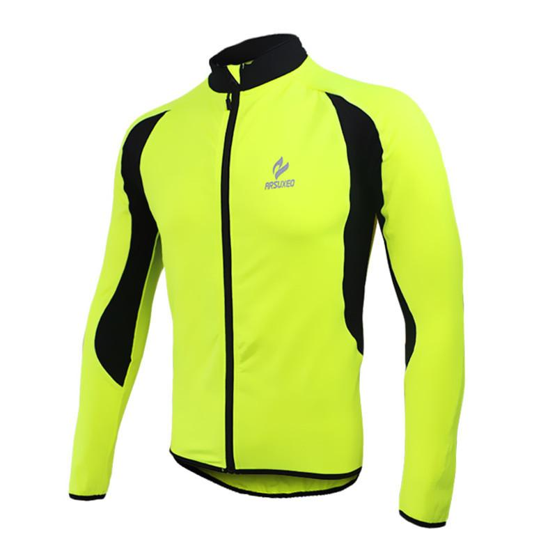 2018 New Sports Men s Thermal Fleece MTB Bike Bicycle Cycling Jersey ... be3f20207