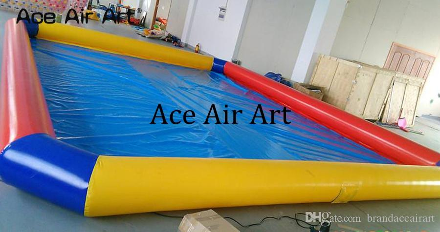 Colorful inflatable playground swimming pool,family yard pool with free CE/UL blower,big discount entertainment for sale
