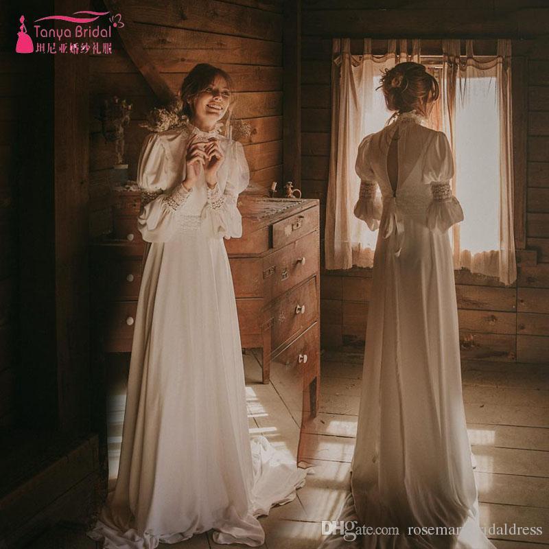 Vintage Victorian Wedding Dresses: Far Western Victorian Style Bohemian Wedding Dresses Long
