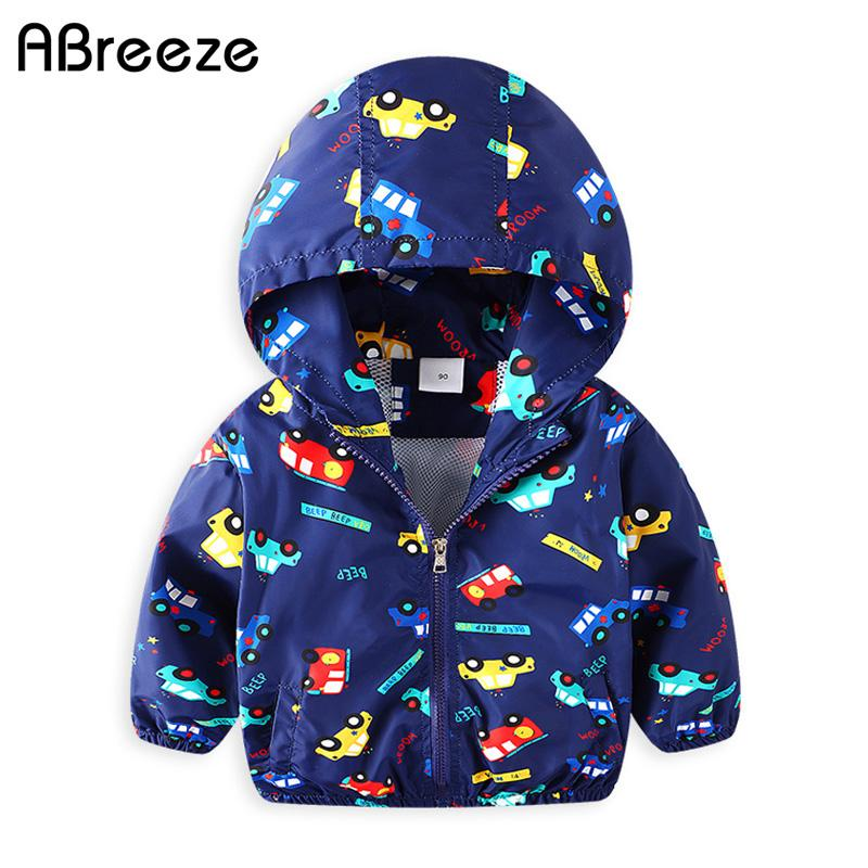 b9cba9fae38a 2018 Spring Summer Children Outerwear   Coats New Car Print Kids Hooded  Jackets For Boys 2 8Y Windproof Clothes Boys CQ056 Winter Jackets For Girls  On Sale ...