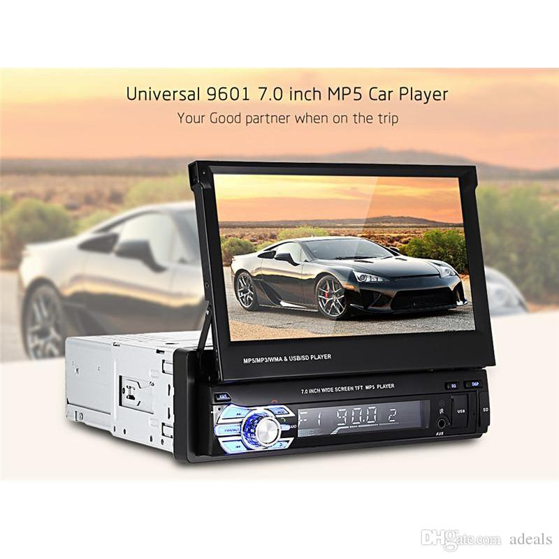 Universal 1 Din 7.0 inch TFT LCD Screen Car DVD Multimedia Player MP5 Bluetooth Auto Audio stereo FM Radio