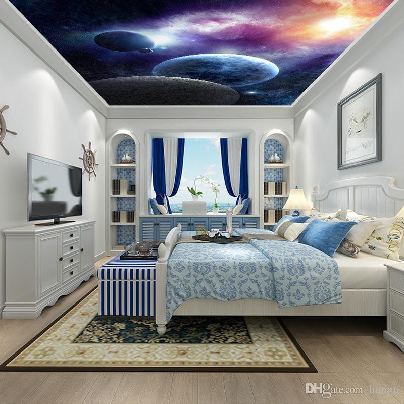 acheter home decor ciel plafond papier peint 3d salon. Black Bedroom Furniture Sets. Home Design Ideas