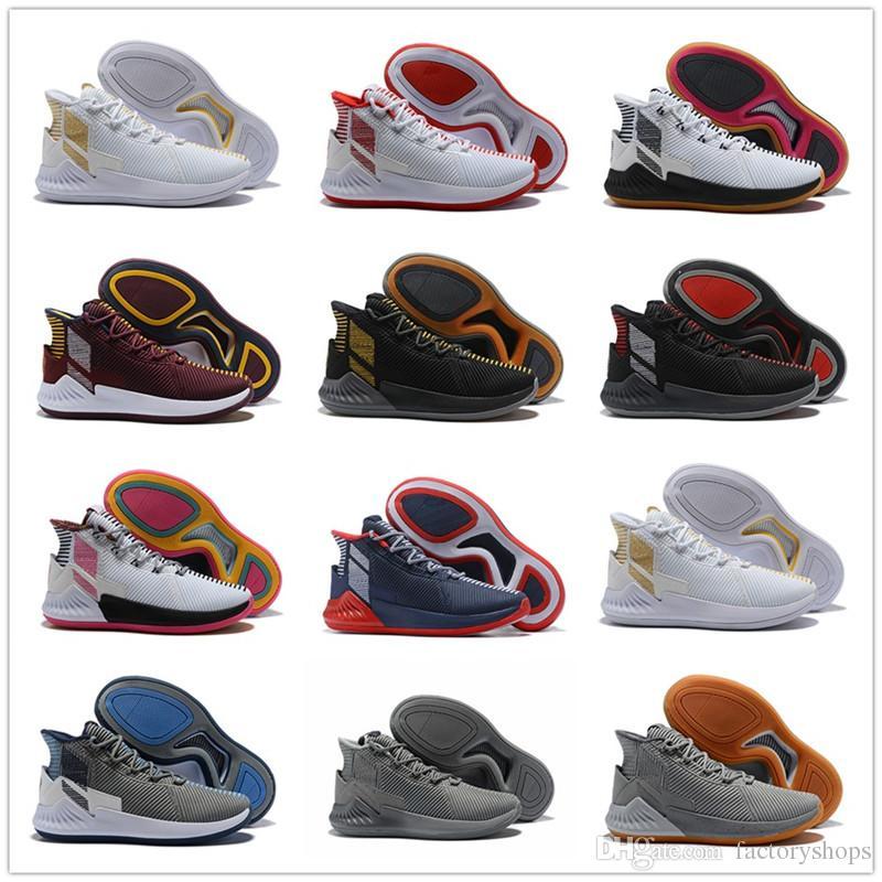 Acheter 2018 D Rose 9 Blanc Or Hommes Chaussures De Basketball Homme De  Qualité Supérieure Derrick Rose Chaussures 9 Sport Sneakers Chaussures  Design Taille ... 8478754e896