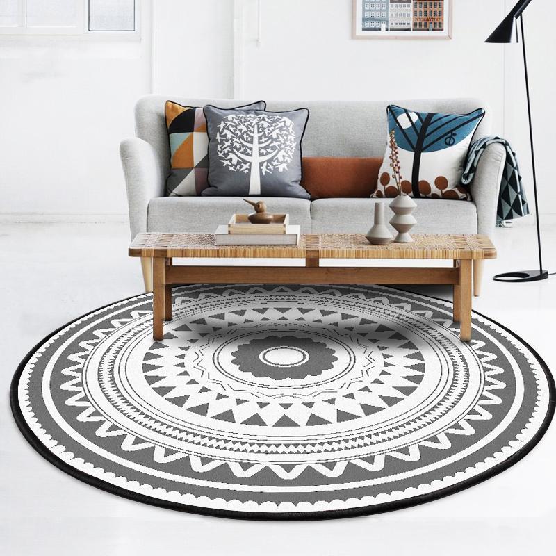 Großhandel Ethnischen Stil Medaillon Floral Blume Grau Grau Soft
