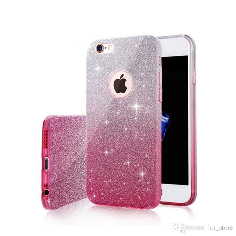 Phone Cases For IPhone 6 Plus Bling Glitter Gradient Case TPU Silicone+PC Women  Cases For IPhone 8 Plus X Cell Phone Pouch Personalized Cell Phone Cases ... f87d4202f7