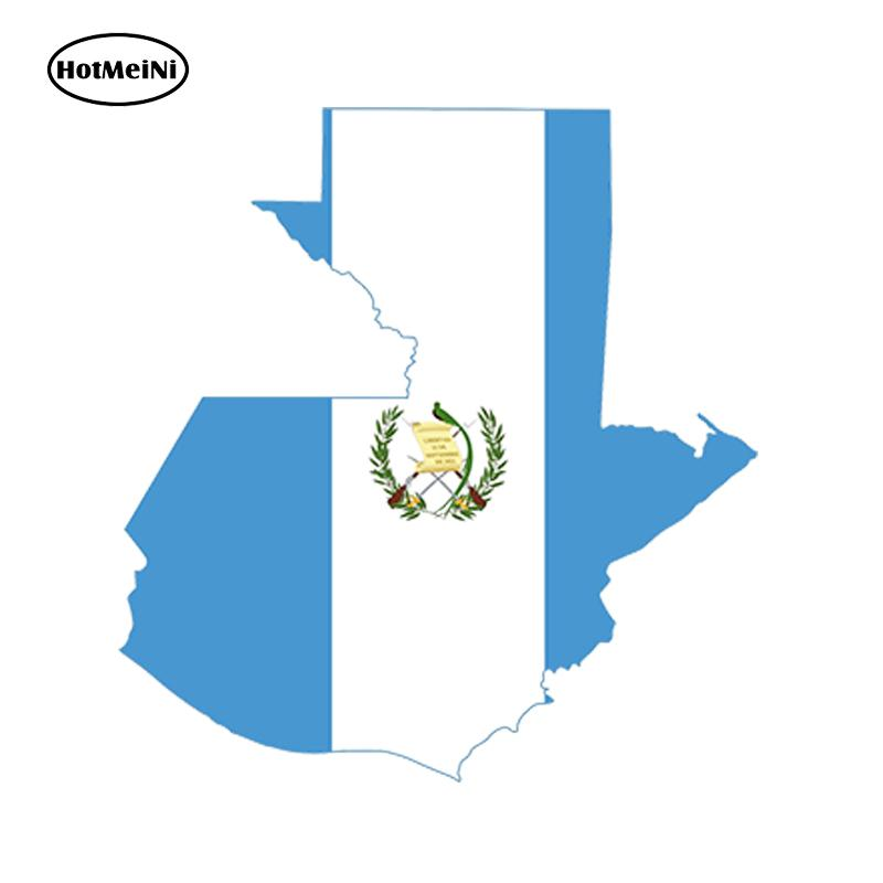 Wholesale JDM Guatemala Map Flag Vinyl Decals Car Stickers Glass Stickers Scratches Stickers Bumper Accessories