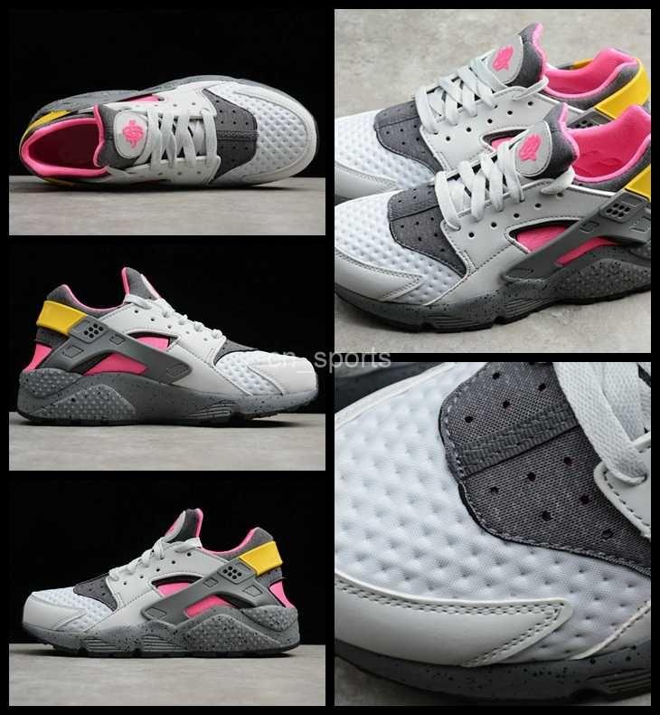 f42c125004a2b 2018 Air Huarache Run Premium Men Women Running Shoes Pink Yellow Gray  Sneakers Triple Huaraches Mens Womans Trainers Huraches Sports Shoes Canada  2019 From ...