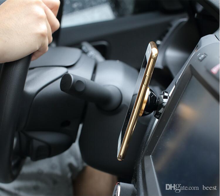 범용 자동차 홀더 미니 자기 에어 벤트 마운트 홀더 휴대 전화 360 회전 핸드폰 마운트 자동차 홀더