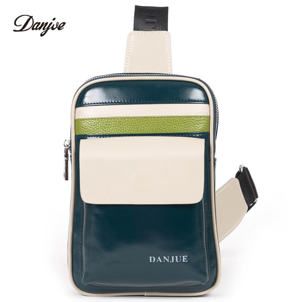 DANJUE Male Chest Bag Genuine Leather Daypack For Men Natural Cowhide  Crossbody Bag Men Casual Small Daily Chest Pack Trendy Kavu Backpack Waist  Purse From ... 3237055f23bbf