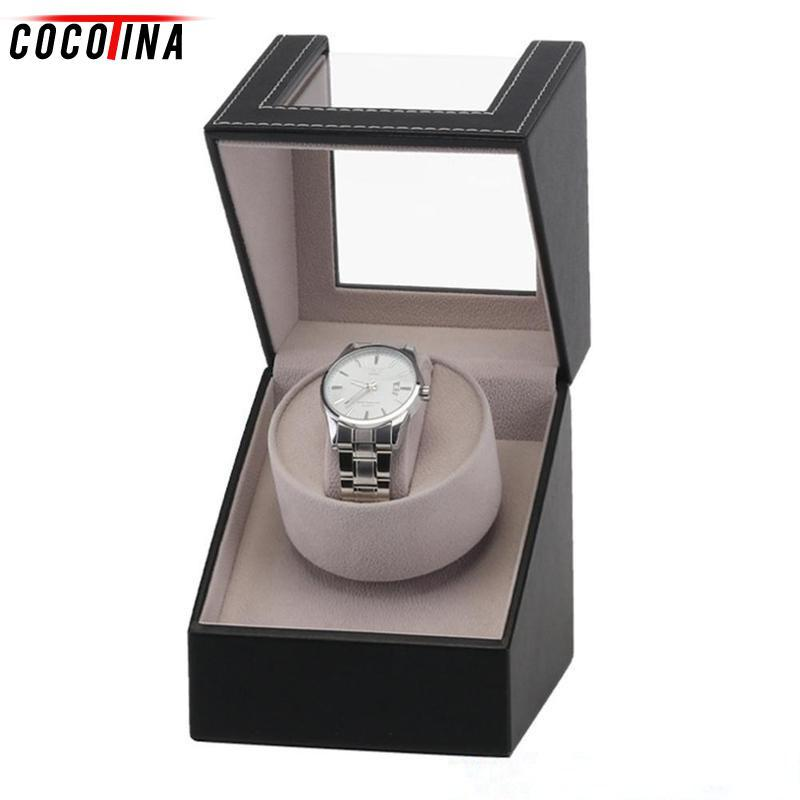 Leather Automatic Watch Winder Watch EU US Plug Display Storage Organizer  Watches Case Wristwatch Gifts Luxury Box For Watches Best Watch Travel Case  Watch ... 6ef60878aa