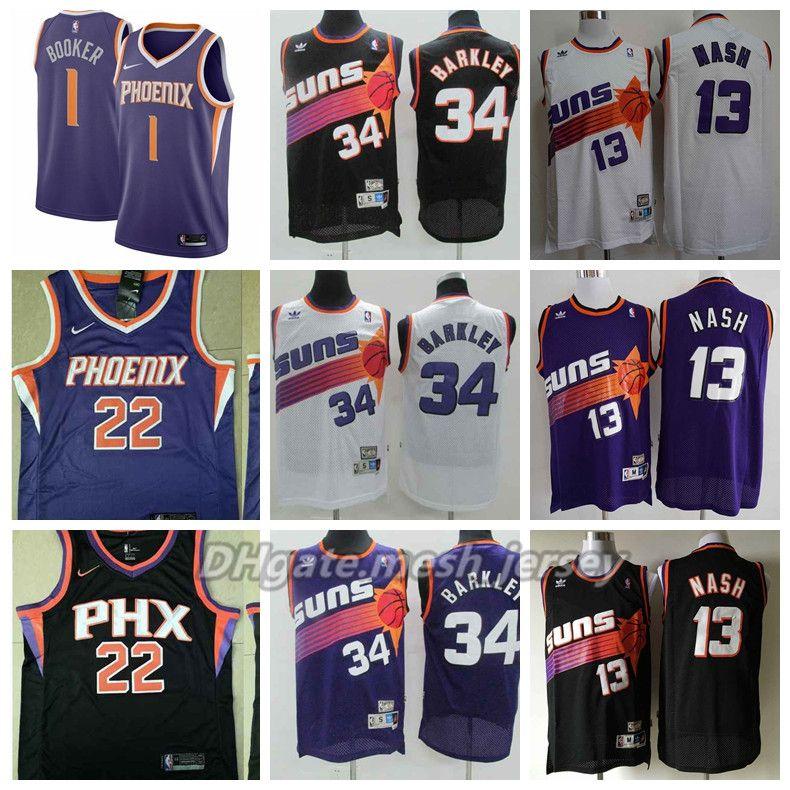 9db73515373 ... where to buy retro men phoenix basketball suns champion jersey 1 devin  booker 13 steve nash