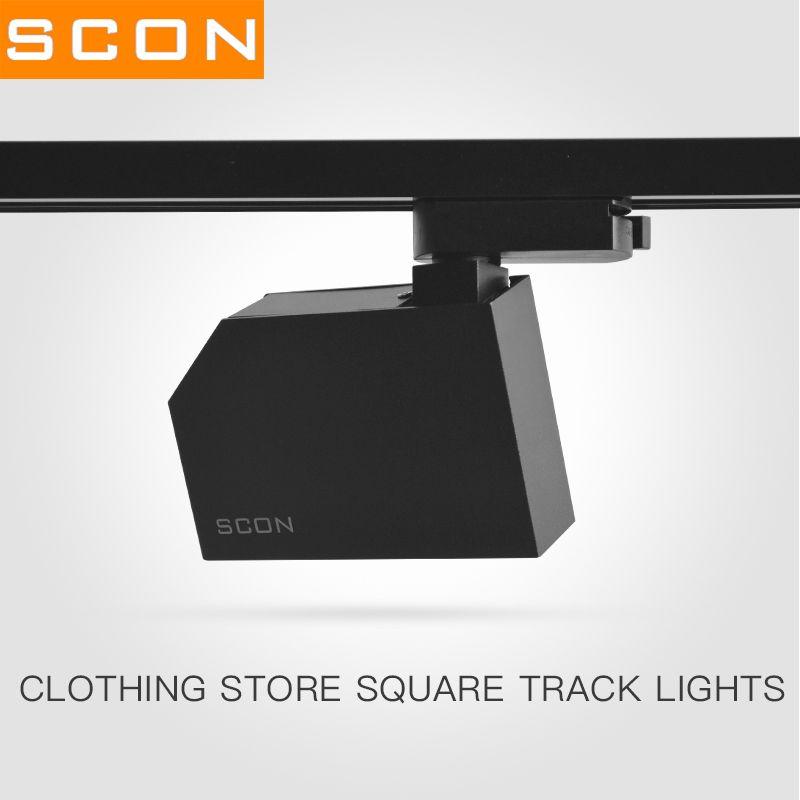 SCON 7W Surface mounted track rail lamp modern Nordic style COB OSRAM Living Room Sofa backgroound wall LED rail spotlight