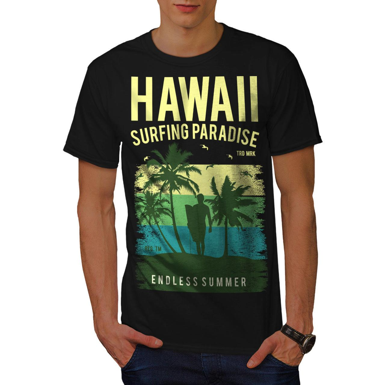 a963225341d65a Wellcoda Hawaii Surf Paradise Mens T Shirt