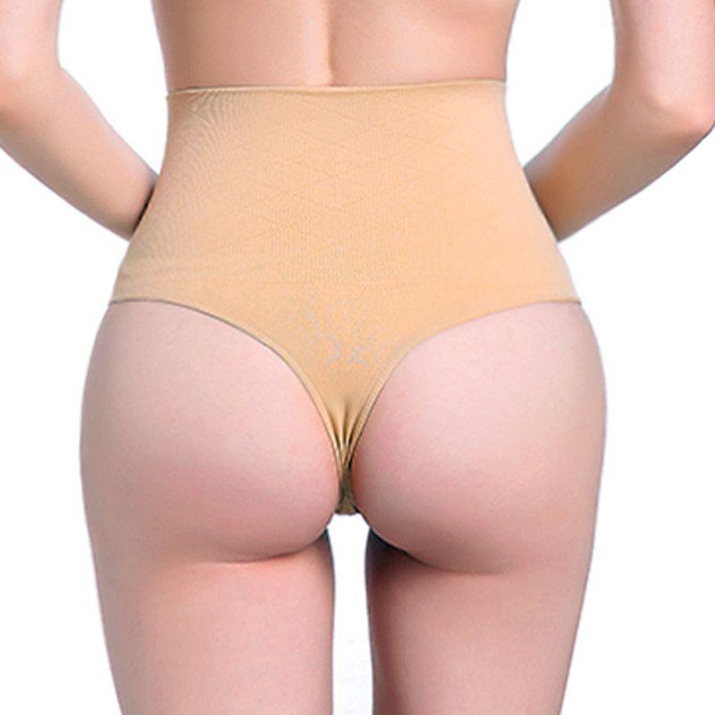 62c27525b8 2019 High Waist Women S Control Panties Tummy Slimming Waist Cincher Body  Shaper Thong G String Butt Lifter Seamless Panties A329 From Merrylady
