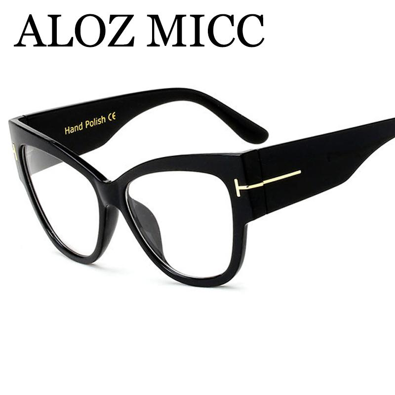 856b2269067 ALOZ MICC Fashion Women Cat Eye Eyeglasses Brand Designe Newest ...