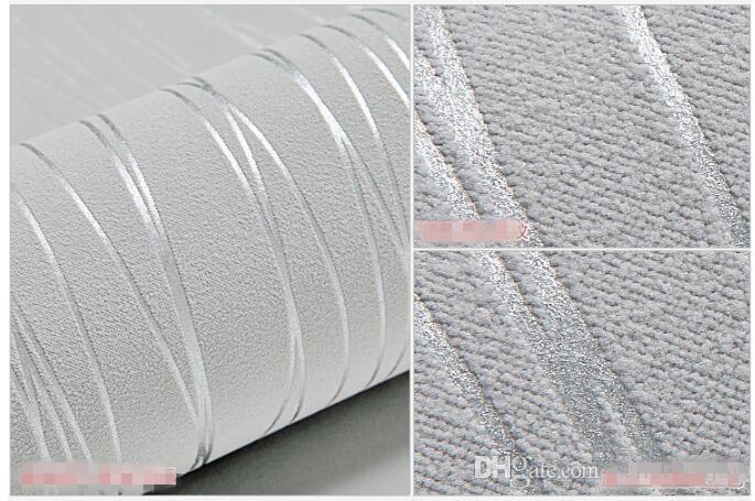 Wallpaper 5m al dettaglio autoadesiva sottile di modo che si affolla delle bande verticali soggiorno Sfondo Mura Home Decor adesivi murali 3D Grey