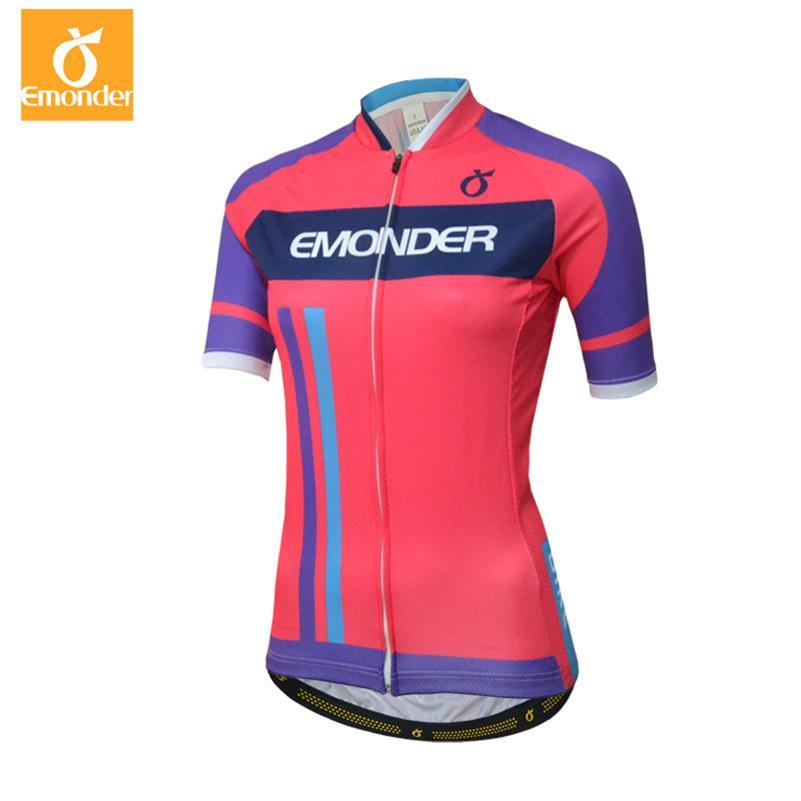 c46167a10 EMONDER 2018 Cycling Jersey Women Short Sleeve Cycling Clothing Bike ...