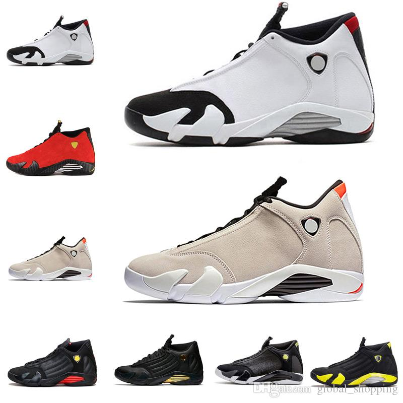3db52cb501a1 Cheap 14 14s Black Toe Fusion Varsity Red Suede Thunder Men Basketball  Shoes Cool Grey DMP Candy Cane Sneakers Size 8 13 Shoes Canada Carmelo  Anthony Shoes ...