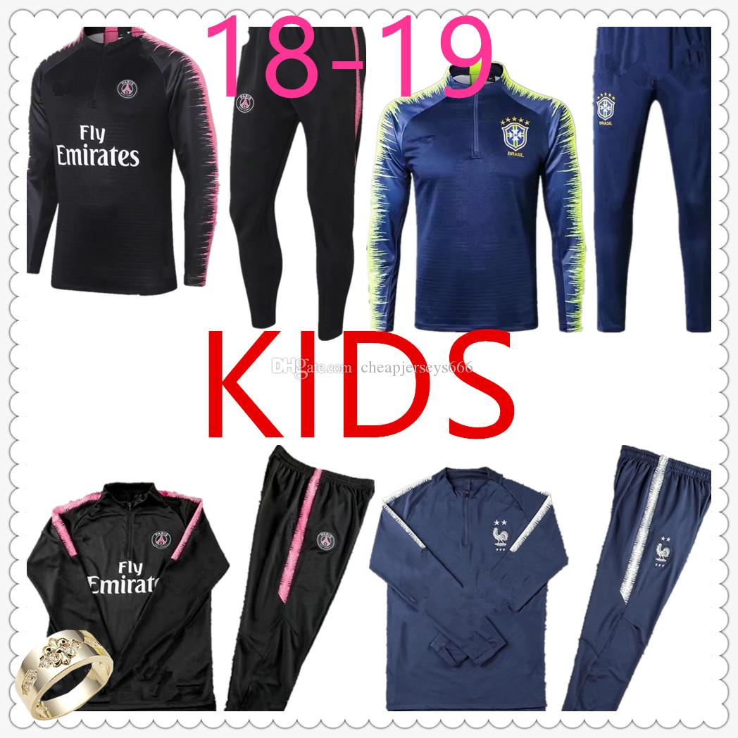 2019 Chandal Psg Kids Football Training Suit Frances Paris Saint Germain  Real Madrid Juventus 18 19 Soccer Tracksuit Child Designer Tracksuits From  ... 2f8c9a8e461b