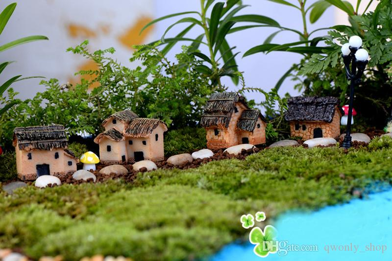 Cute Resin Crafts House Fairy Garden Miniatures Gnome Micro landscape Decor Bonsai for Home Décor 3cm