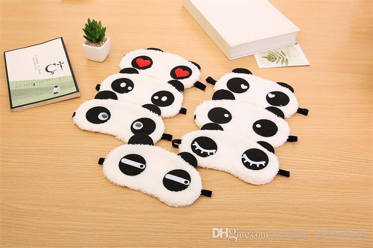 Nueva cara linda panda blanca máscara de ojos sombra de ojos del sueño del algodón gafas máscara de ojos máscara de sueño cubierta del ojo cuidado de la salud