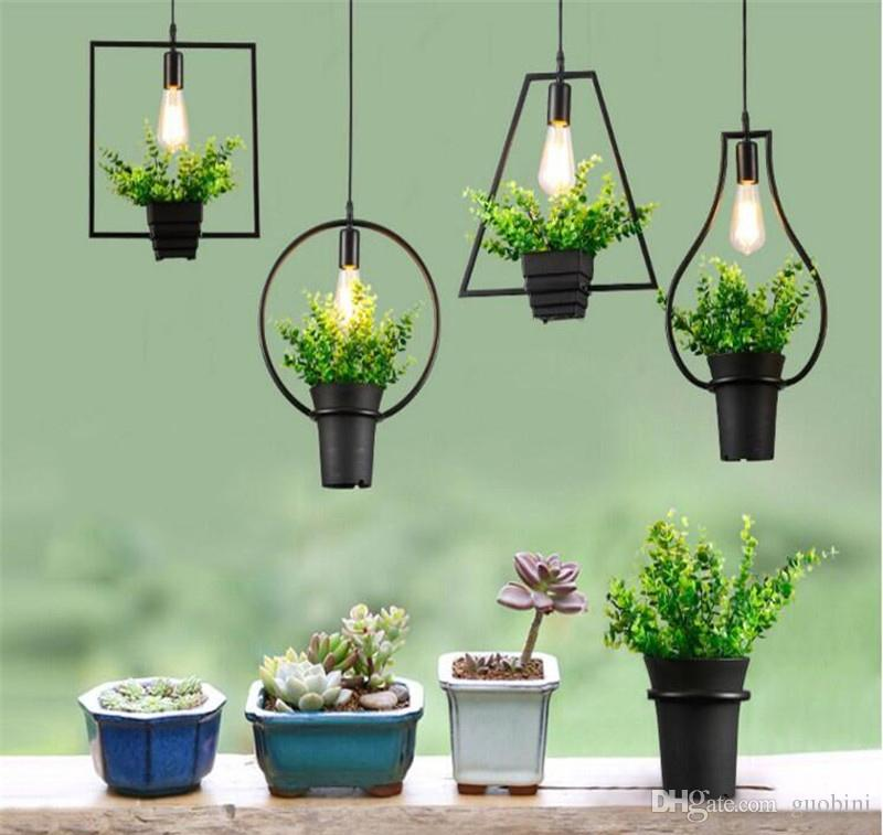 Free Delivery,Vintage Industrial Plant Pendant Lamp Iron Plant ...