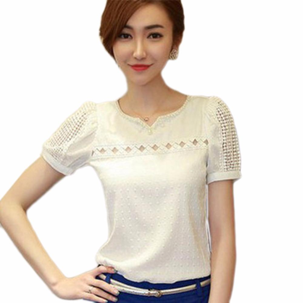 Compre Roupas Femininas 2018 Chiffon Blusa De Renda De Crochê Camisas  Coreano Feminino Blusas Tops Camisa Blusas Brancas Slim Fit Tops 3XL De  Mujing 1491d70d48c