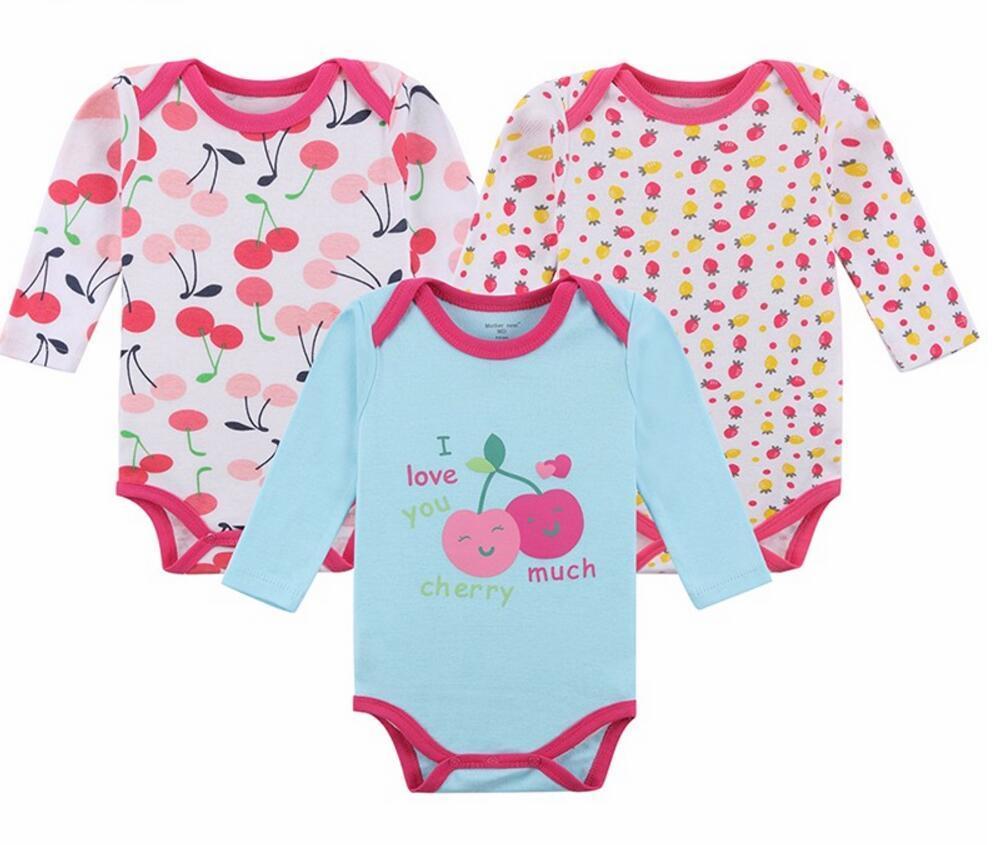 70d99d3e8795 Baby Bodysuits Girls Infant Jumpsuit Long Sleeve Toddler Underwear ...