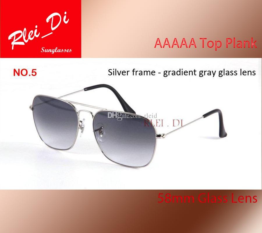 0751888c6fe Luxury Sunglasses Men Women Rectangle Sun Glasses Brands Trend Reflective  Sunglasses 58MM Square Eyewear Gradient Pilot Mirror With Cases Suncloud ...