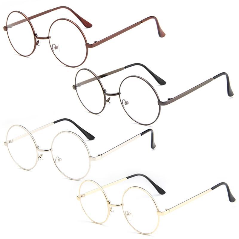 33ce87c33d Vintage Men Women Retro Round Eyeglasses Frame Glasses Eyewear Clear ...