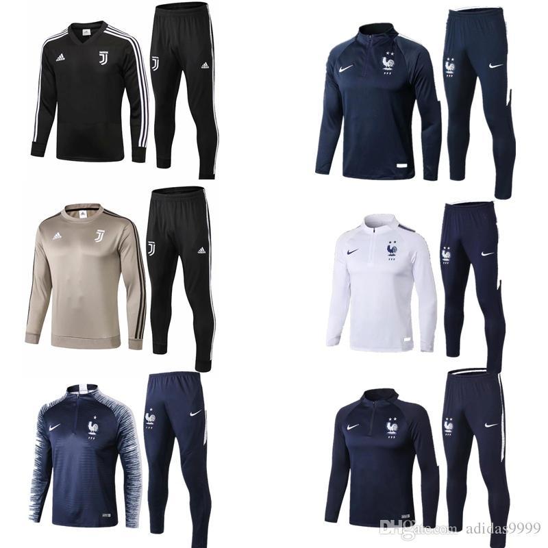 9e4dd3fa51a Compre Novo 2018 Juventus Fato De Treino 2018 2019 Psg Futebol Conjuntos De  Treino Jaqueta MBAPPE VERRATT CAVANI POGBA Jaqueta De Futebol De  Adidas9999