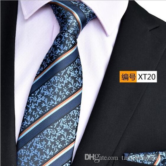 NINIRUSI high density digital 1200 needle yarn dyed fabric hand made Necktie with pocket towel