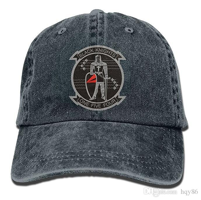 canada uptop usa trucker hat 3d5d3 e9315  get baseball cap for men womenus  navy vf 154 black knights squadron unisex adjustable cotton denim 0f0d6832a44f