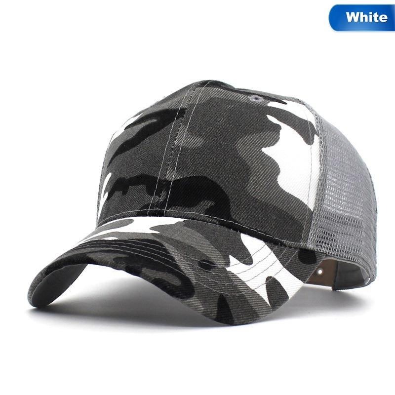 1c99be795f8c8 2018 Snow Camo Baseball Caps Men Summer Mesh Cap Tactical Camouflage Hat  For Men Women High Quality Bone Masculino Dad Hat Caps Ball Caps Fitted Caps  From ...