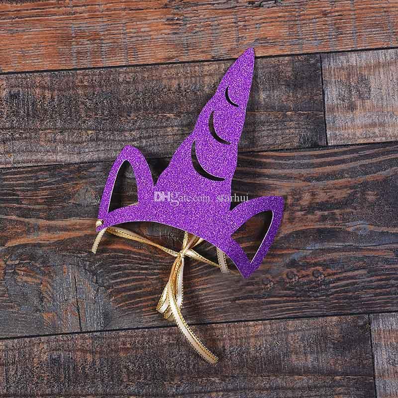 Unicorn Parti Şapkalar Glitter Unicorn Parti Malzemeleri Renkli Parti Süslemeleri Çocuklar ve Yetişkinler Için Cosplay Kostüm Aksesuarları WX9-396