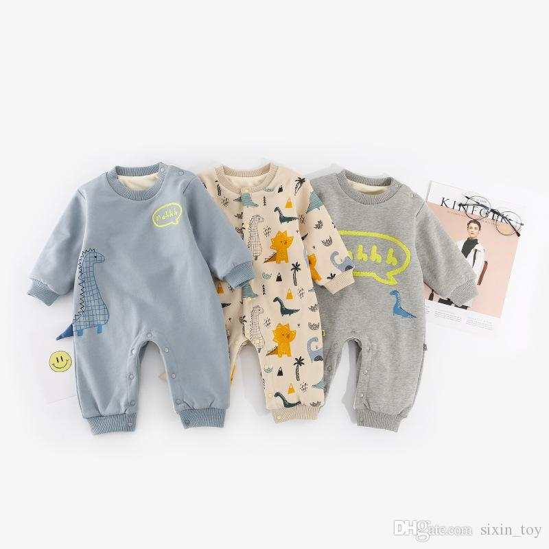 8d44659afb0 2019 INS Boys Girls Baby Rompers Cotton Newborn Onesies Clothing Cartoon  Dinosaur Toddler Romper Boutique Infant Jumpsuits Clothes From Sixin toy