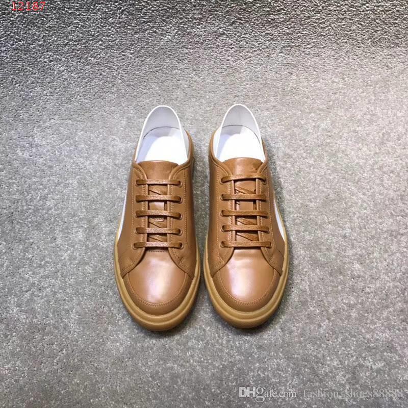 5c7c6103 Compre 2018 Zapatos De Moda Hechos A Mano Colores Divididos Casual Hombre  Nuevo Zapatos Transpirables Comodidad Ocio Apacible De Calidad Superior  Precio Al ...