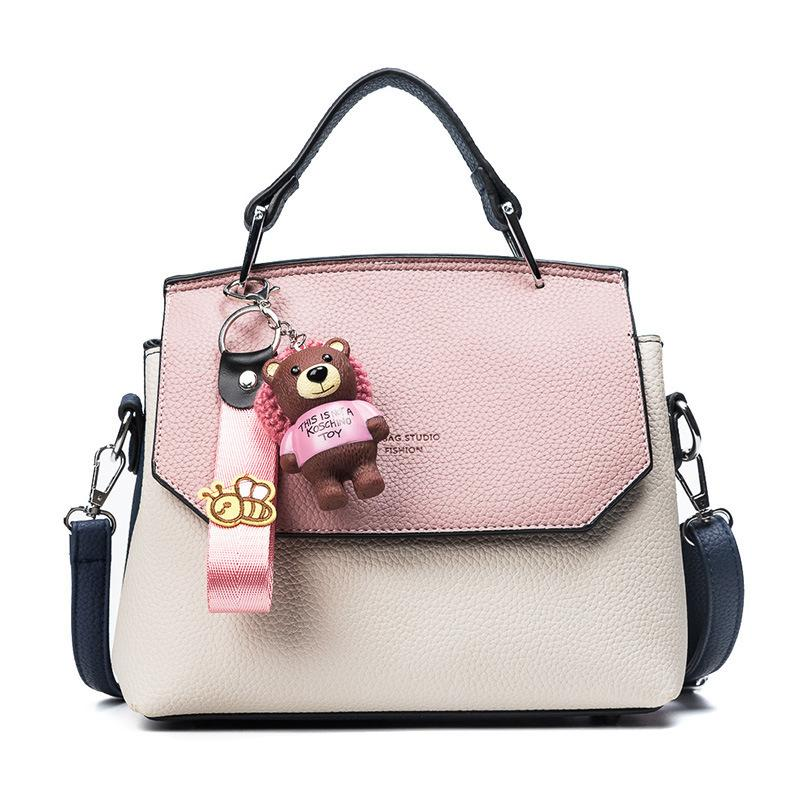 25683ee213 2019 Fashion 2018 Fashion Cute Small Handbags Pu Leather Women Famous Brand  With Toys Crossbody Bags PatchWork Female Messenger Bags 613 Womens Purses  ...