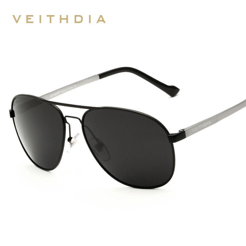 Compre Nuevo Veithdia Retro Gafas De Sol Polarizadas Hombres Diseñador De  La Marca De Aluminio De Lujo Marco De Magnesio Gafas De Sol Hombre Gafas De  Gafas ... a5fc703959ea