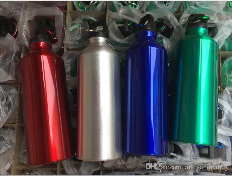 Aluminum Alloy Water Bottle Simple Design Drinkware For Cycling Camping Bicycle Sports Outdoor Water Container 300/400/500/600/750/1000ml