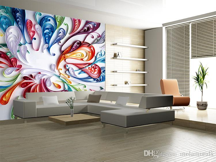 Customized Photo 3D murals wallpapers Art abstract 3D wallpaper for living room TV backdrop 3d wall papers DIY Home Decoration